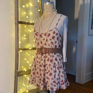 Spaghetti strap, tiered mini dress